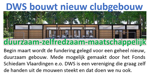 DWS bouwt nieuw clubgebouw